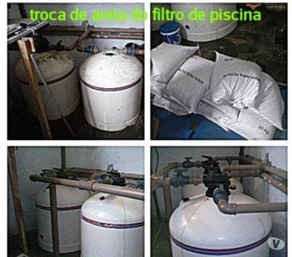 Fotos para Troca de Areia de Filtro de Piscinas, Conserto de bombas Etc