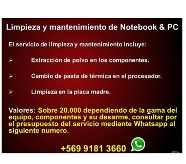 Fotos de Limpieza & Mantenimiento de Notebooks & PC
