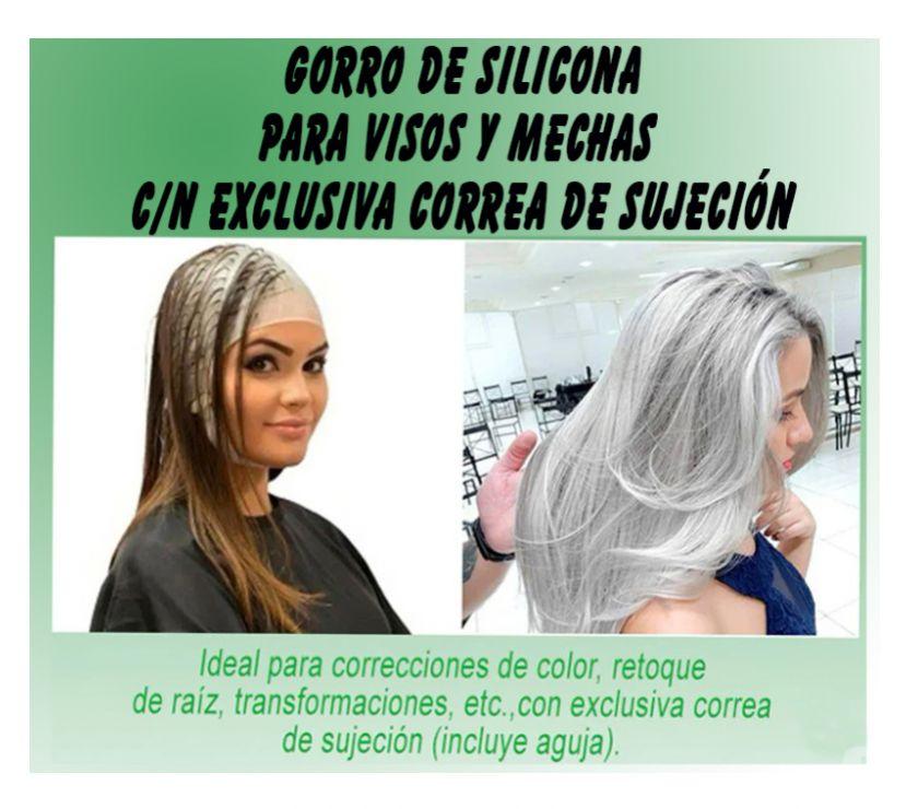 Fotos de GORRO DE SILICONA PARA VISOS Y MECHAS CON CORREA EXCLUSIVA