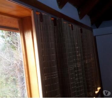 Fotos de Cortinas de Corredera de Totora Natural