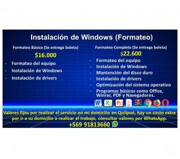 Fotos de Formateo & Instalacion de Windows 7 & 10