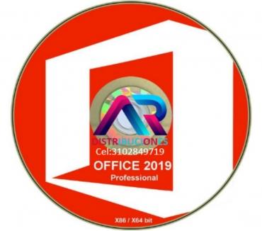 Fotos de DVD Office 2019, de 32 y 64 Bits, envió gratis.