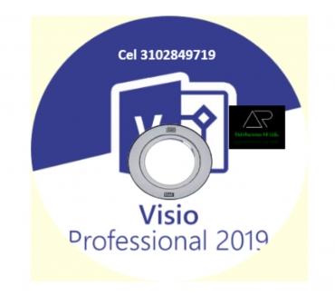 Fotos de Visio Profesional 2019 de 32 y 64 Bits, envió gratis.