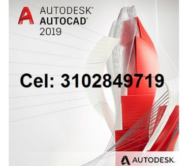 Fotos de DVD o USB de 8 gigas AutoCAD 2019 de 32, 64 bits en español,