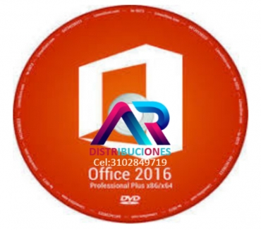 Fotos de DVD Office 2016, de 32 y 64 Bits, envió gratis.
