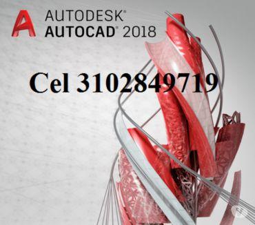 Fotos de DVD o USB de 8 gigas AutoCAD 2018 de 32, 64 bits en español