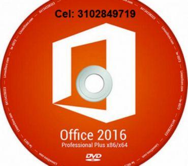 Fotos de DVD Office 2016 profesional de 32 y 64 bis , envió gratis.