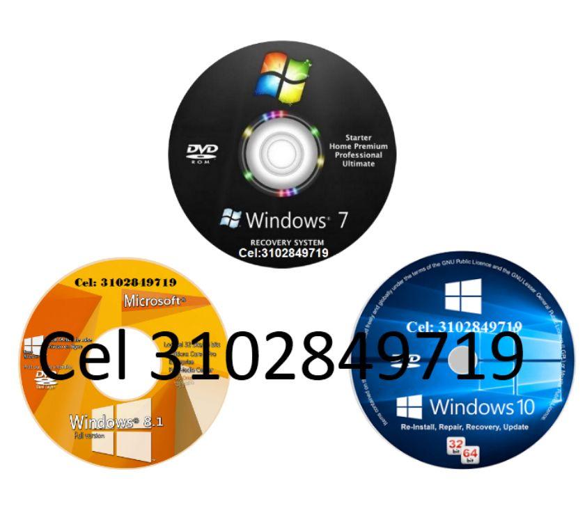 Fotos de Windows 7, 8.1, 10 de 32 y 64 Bits, envió Gratis.