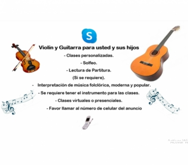 Fotos de Violín y Guitara para usted y sus hijos.