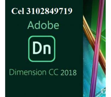 Fotos de DVD o USB de 8 gigas Adobe Dimensión CC 2018, envió gratis.