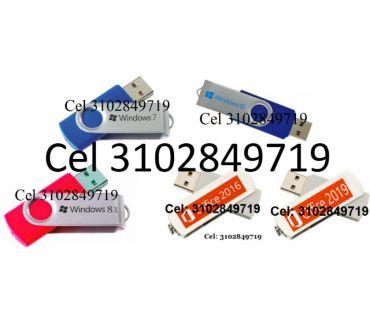 Fotos de USB Windows 7, 8.1, 10 de 32 y 64 Bits, más USB Office 16,19