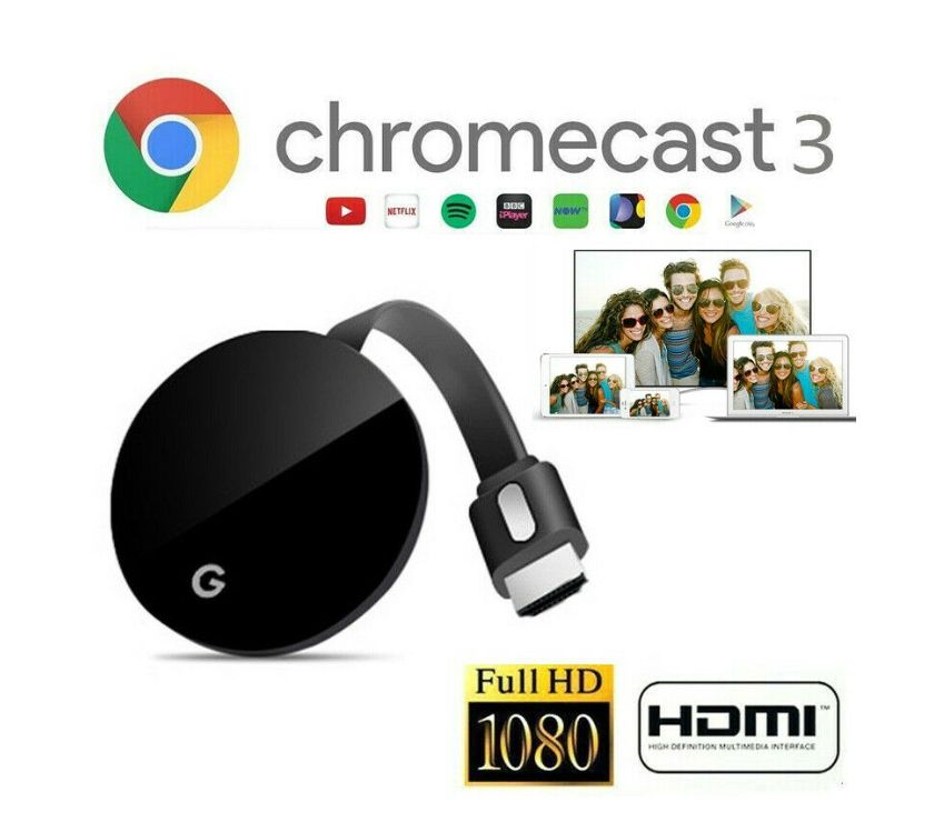 Fotos de GOOGLE CROMECAST 2 HDMI NETFLIX YOUTUBE WATSAPP 3107071502