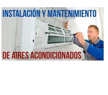 Fotos de instalación reparación de aires acondicionados