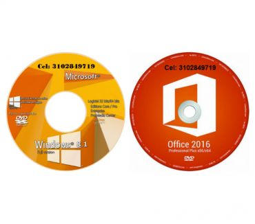 Fotos de DVD Windows 8.1 de 32 y 64 más DVD Office 2016 de 32 y 64