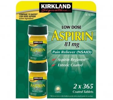 Fotos de Aspirina Kirkland por Dos frascos, 365 Tabletas Cada Uno
