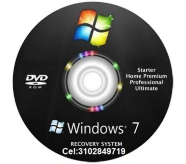Fotos de DVD Windows 7 de 32 y 64 bis, envió gratis.