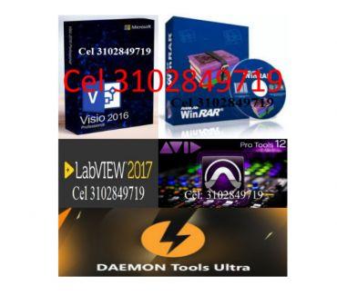 Fotos de Adjunto, Pro-Tools, LabVIEW, WinRAR, Visio, Daemon Tools Ult