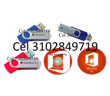 Fotos de USB Windows 7, 8.1, 10 de 32 y 64 Bits, más DVD Office 16,19