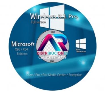 Fotos de DVD Windows 8.1 de 32 y 64 Bits, envió Gratis.