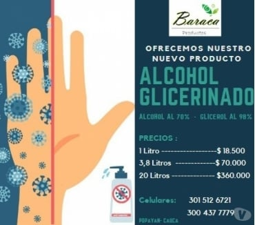 Fotos de Alcohol glicerinado al 70%
