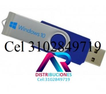 Fotos de USB Windows 10 de 32 y 64 Bits, envió Gratis.