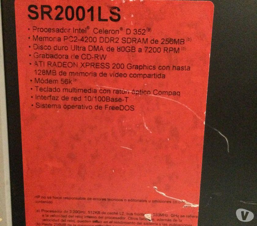 Fotos de Vendo CPU Compaq Presario SR2001 ls