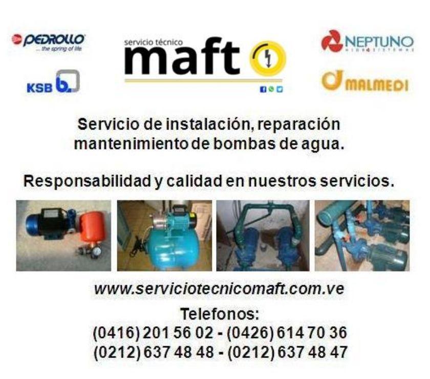 Fotos de instalacion reparacion mantenimiento bombas de agua caracas