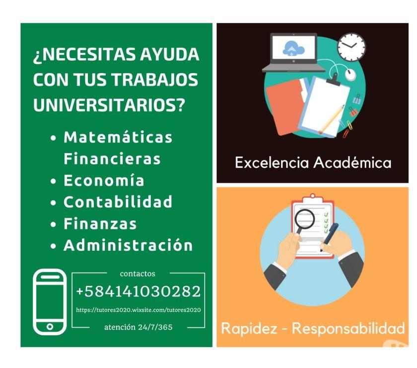 Fotos de Clases de Finanzas y Asesoría en Trabajos Académicos