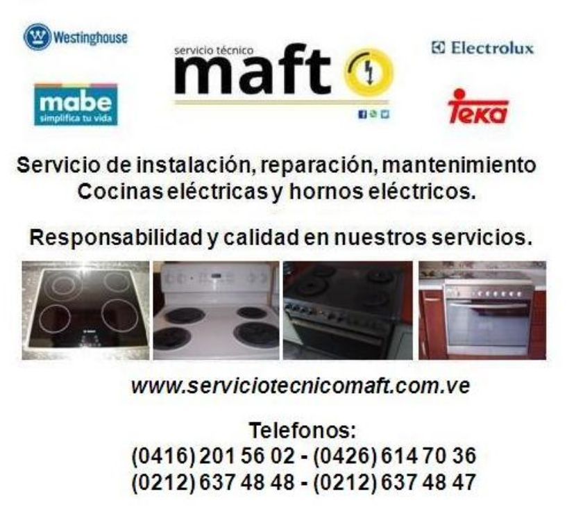 Fotos de Instalacion reparacion de cocinas electricas hornos Caracas