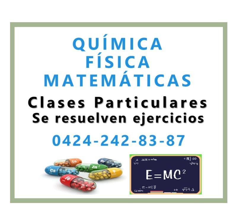 Fotos de EN VACACIONES: clases Química Física Matemáticas y Biología