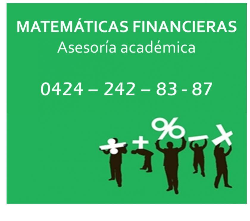 Fotos de Apoyo académico en Matemáticas Financieras