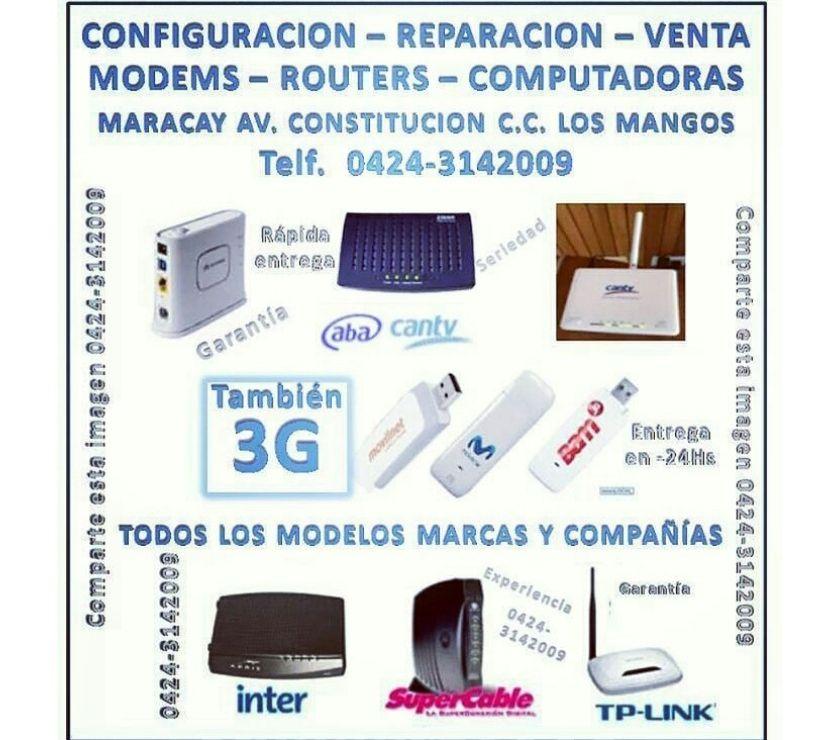 Fotos de EN MARACAY REPARO MODEM ABA CANTV ROUTER WIFI BAM 3G
